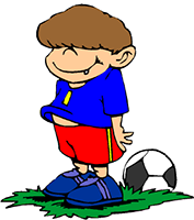 Idiom Definition - to kick a ball around