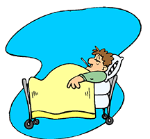 Idiom Definition - to run a fever