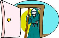 Idiom Definition - at death's door