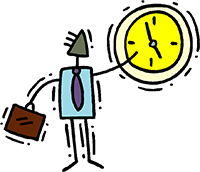 Idiom Definition - clock out