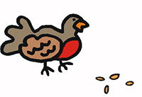 Idiom Definition - eat like a bird