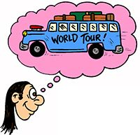 Idiom Definition - on the road