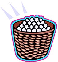 Idiom Definition - put all your eggs in one basket
