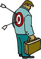 Idiom Definition - a bullseye on someone's back