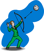 Idiom Definition - shoot for the moon